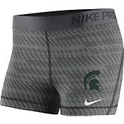 Nike Women's Michigan State Spartans Anthracite Pro Shorts