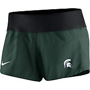 Nike Women's Michigan State Spartans Green Gear Up Crew Performance Shorts