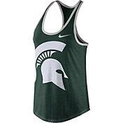 Nike Women's Michigan State Spartans Green Dri-Blend Tank Top