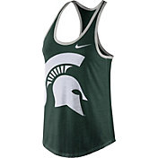 Nike Women's Michigan State Spartans Green Dri-Blend Tank Top