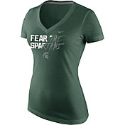 Nike Women's Michigan State Spartans Green Project Fresh Championship Drive Football T-Shirt