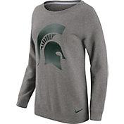 Nike Women's Michigan State Spartans Grey Champ Drive Boyfriend Crew Sweatshirt