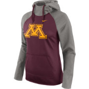 Nike Women's Minnesota Golden Gophers Grey/Maroon Tailgate All Time Performance Hoodie