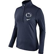 Nike Women's Penn State Nittany Lions Blue Tailgate Dry Quarter-Zip Shirt