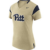 Nike Women's Pitt Panthers Gold/Blue Fan V-Neck T-Shirt