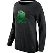 Nike Women's Oregon Ducks Champ Drive Boyfriend Crew Black Sweatshirt