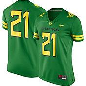 Nike Women's Oregon Ducks #21 Apple Green Game Football Jersey