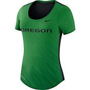 Nike Women's Oregon Ducks Apple Green Dri-Blend Scoop Neck T-Shirt