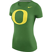 Nike Women's Oregon Ducks Apple Green Logo T-Shirt