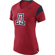 Nike Women's Arizona Wildcats Cardinal/Navy Fan V-Neck T-Shirt