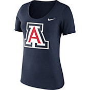 Nike Women's Arizona Wildcats Navy Logo Scoop Neck T-Shirt