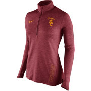 Nike Women's USC Trojans Heathered Cardinal Stadium Element Performance Half-Zip