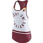 Nike Women's USC Trojans White/Cardinal Circle Dri-Blend Tank Top