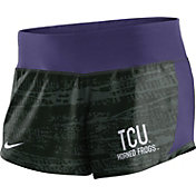 Nike Women's TCU Horned Frogs Black/Purple Crew Performance Shorts