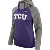 Nike Women's TCU Horned Frogs Grey/Purple Tailgate All Time Performance Hoodie