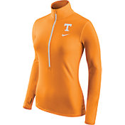 Nike Women's Tennessee Volunteers Tennessee Orange Pro Hyperwarm Half-Zip Shirt