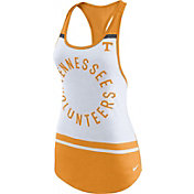 Nike Women's Tennessee Volunteers White/Tennessee Orange Circle Dri-Blend Tank Top