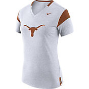 Nike Women's Texas Longhorns White/Burnt Orange Fan V-Neck T-Shirt