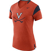 Nike Women's Virginia Cavaliers Orange/Blue Fan V-Neck T-Shirt