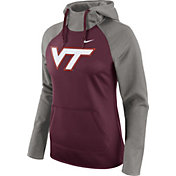 Nike Women's Virginia Tech Hokies Grey/Maroon Tailgate All Time Performance Hoodie