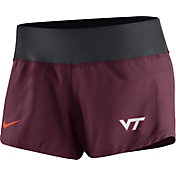 Nike Women's Virginia Tech Hokies Maroon Gear Up Crew Performance Shorts
