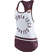 Nike Women's Virginia Tech Hokies White/Maroon Circle Dri-Blend Tank Top