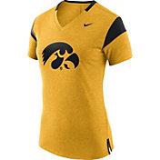 Nike Women's Iowa Hawkeyes Fan Gold/Black V-Neck T-Shirt