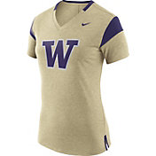 Nike Women's Washington Huskies Gold/Purple Fan V-Neck T-Shirt