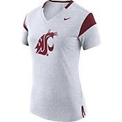 Nike Women's Washington State Cougars White/Crimson Fan V-Neck T-Shirt
