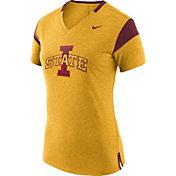 Nike Women's Iowa State Cyclones Gold/Cardinal Fan V-Neck T-Shirt
