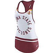 Nike Women's Iowa State Cyclones White/Cardinal Circle Dri-Blend Tank Top