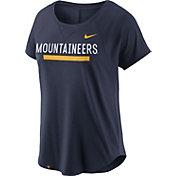 Nike Women's West Virginia Mountaineers Blue Modern Fan 2.0 Performance T-Shirt
