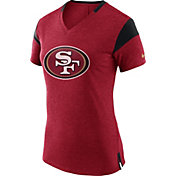 Nike Women's San Francisco 49ers Fan V Red T-Shirt