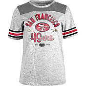5th & Ocean Women's San Francisco 49ers Peppercorn Throwback Grey T-Shirt