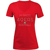 5th & Ocean Women's San Francisco 49ers Rhinestone Red T-Shirt