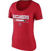 Nike Women's Tampa Bay Buccaneers Team Scoop Red T-Shirt