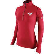 Nike Women's Tampa Bay Buccaneers Tailgate Element Quarter-Zip Red Pullover