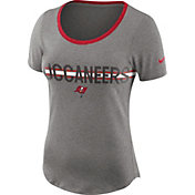 Nike Women's Tampa Bay Buccaneers Strike Slub Grey T-Shirt
