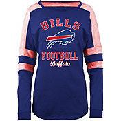 5th & Ocean Women's Buffalo Bills Boyfriend Royal Long Sleeve Shirt