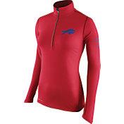 Nike Women's Buffalo Bills Tailgate Element Quarter-Zip Red Pullover