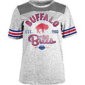 5th & Ocean Women's Buffalo Bills Peppercorn Throwback Grey T-Shirt