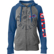 5th & Ocean Women's Buffalo Bills Tri-Blend Fleece Grey Full-Zip Hoodie