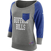 Nike Women's Buffalo Bills Tailgate Vintage Crew Grey Long Sleeve Shirt