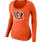 Nike Women's Cincinnati Bengals Logo Orange Long Sleeve Shirt