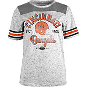 5th & Ocean Women's Cincinnati Bengals Peppercorn Throwback Grey T-Shirt
