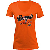 5th & Ocean Women's Cincinnati Bengals Glitter Orange T-Shirt