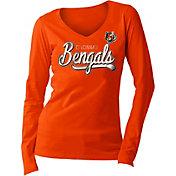 5th & Ocean Women's Cincinnati Bengals Long Sleeve Orange Shirt