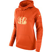 Nike Women's Cincinnati Bengals Therma-FIT Orange Performance Hoodie