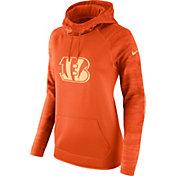 Nike Women's Cincinnati Bengals Therma-FIT Orange Performance Hoodie