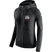 Nike Women's Cincinnati Bengals Gym Vintage Full-Zip Black Hoodie
